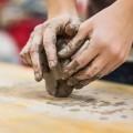 child, born, hands, mold, clay, artist, success