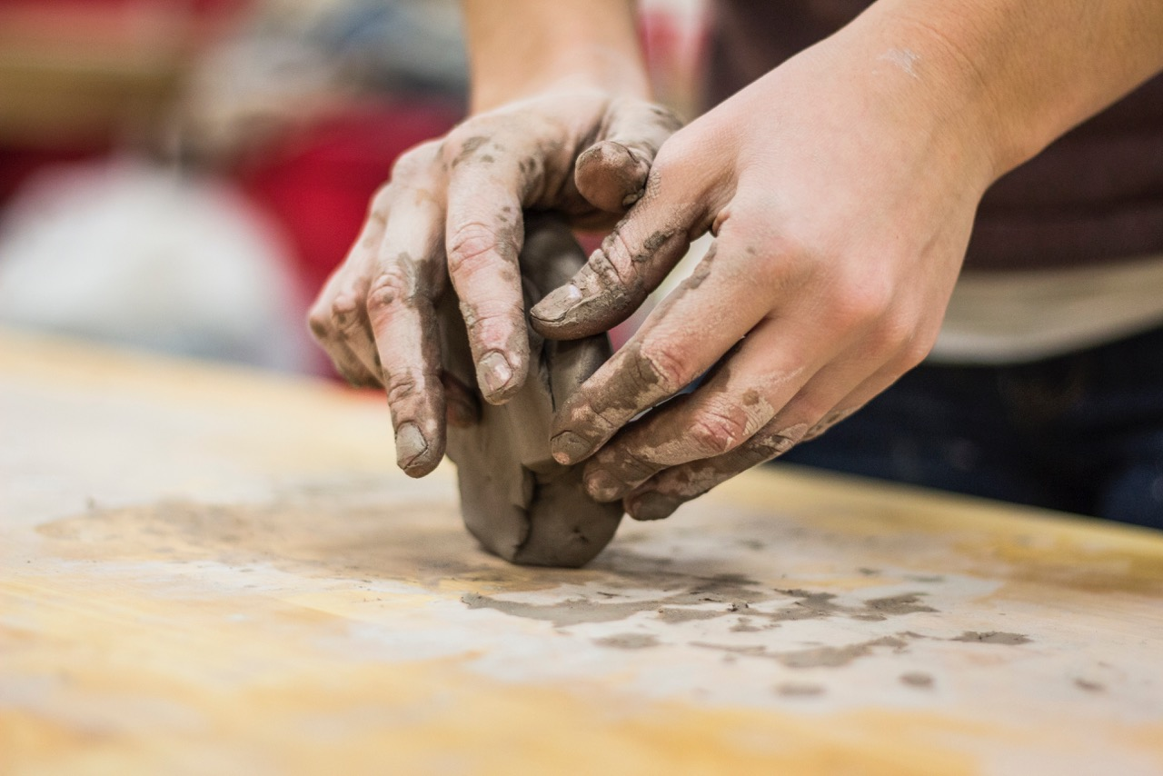 hands, mold, clay, artist, success