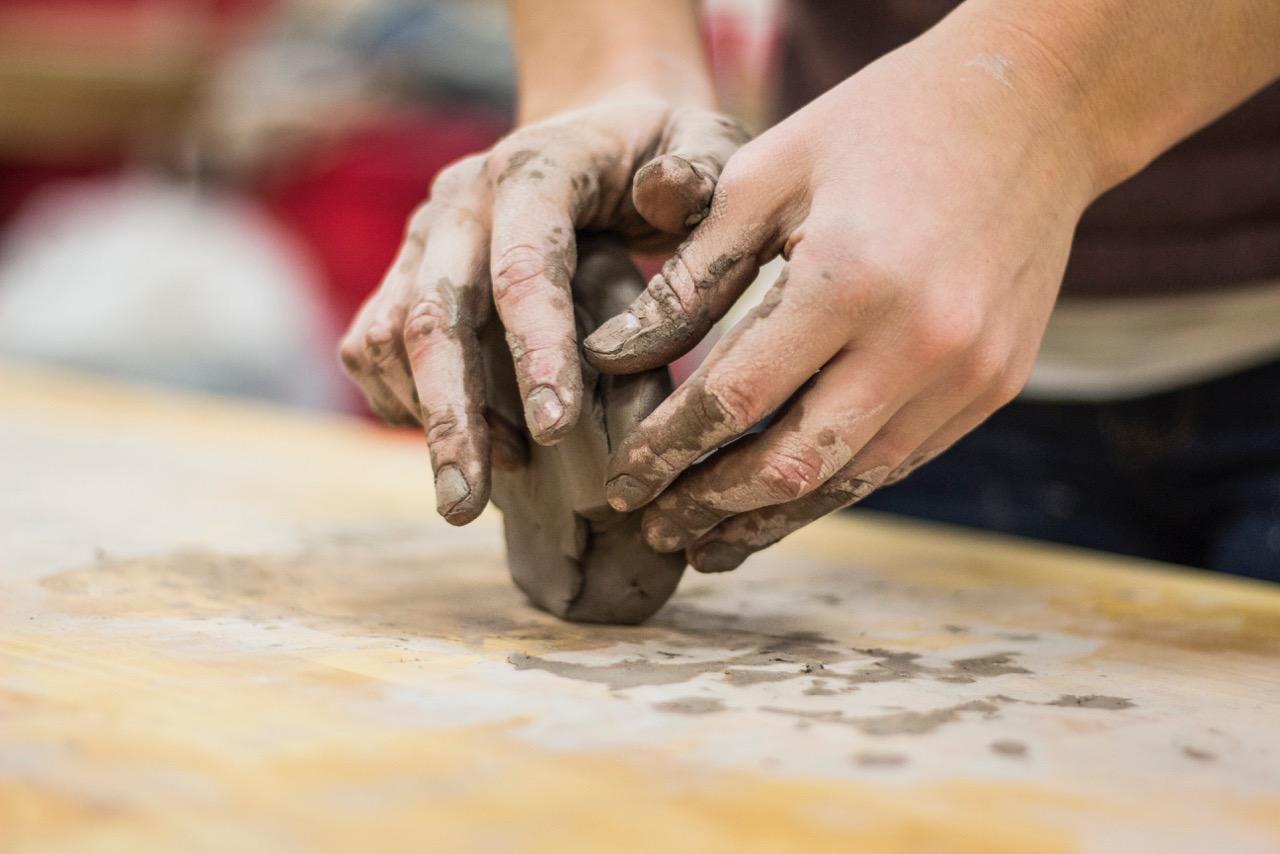 hands, mold, clay, artist, success
